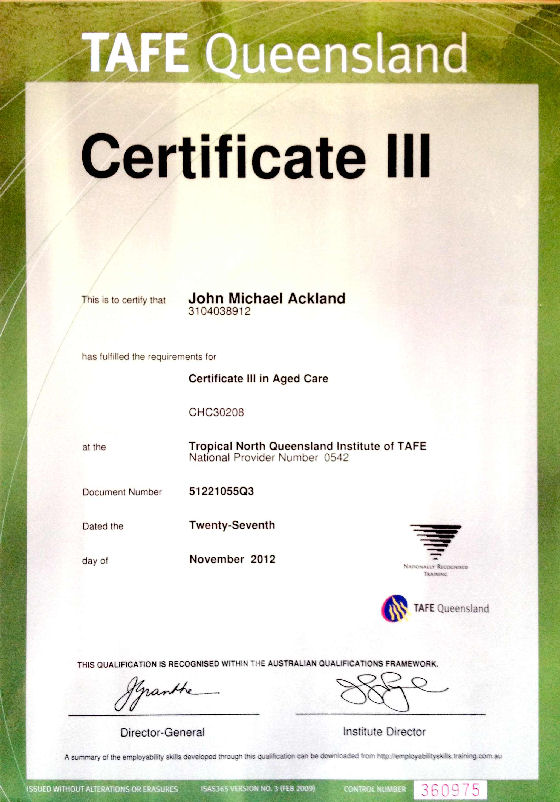 certificate iii in aged care Ageing, home and community  certificate 3 in aged care chc33015,  certificate 3 in individual support chc33015 chc33015 certificate iii in  individual.